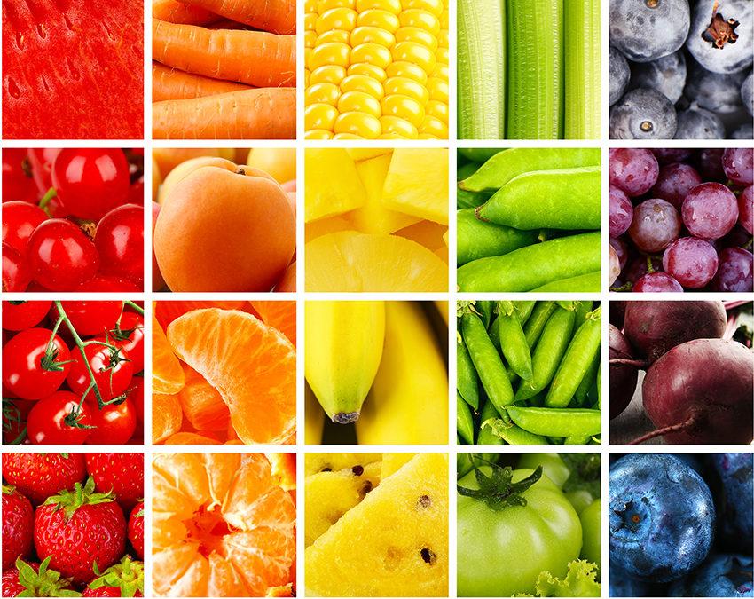 Conoce los beneficios de cada color de las frutas y verduras
