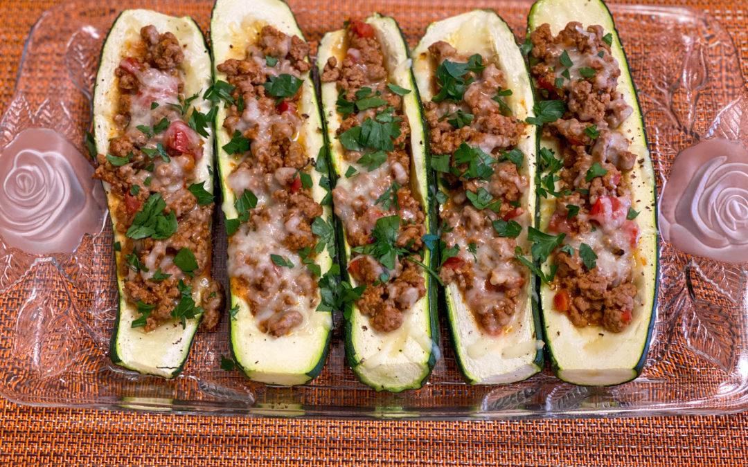 Canoas de zucchini al horno